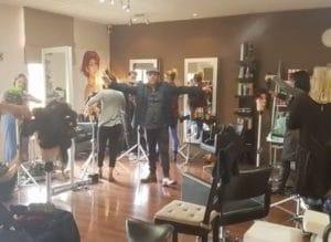Clive Allwright hairdressing workshop
